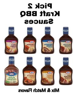 3 Pack Kraft BBQ Sauce 18 oz Each Get Any Barbecue Flavor in