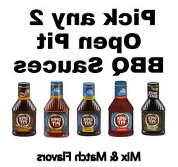 4 Pack Open Pit BBQ Sauce 18 oz Each Get Any Barbecue Flavor
