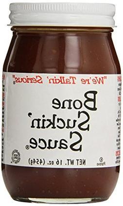 Bone Suckin' Fords Gourmet Foods Hot BBQ Sauce, 16 Ounce Pac