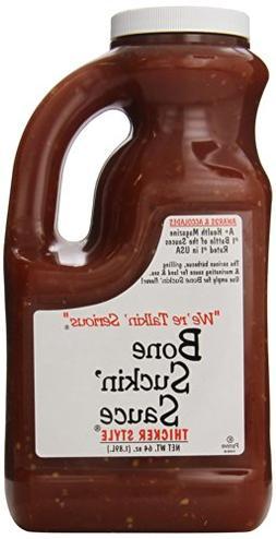 Bone Suckin Gourmet Foods BBQ Sauce, Thicker Original, 64 Ou