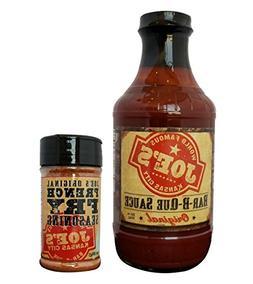 Joe's Kansas City BBQ Sauce  & Fry Seasoning  Bundle