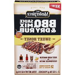 KC Masterpiece BBQ Sauce Mix & Dry Rub Sweet Honey 4 oz
