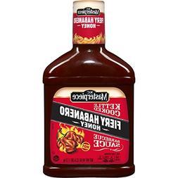 KC Masterpiece Barbecue Sauce Fiery Habanero Honey 40 Oz