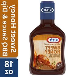 KRAFT Sweet Honey Barbecue Sauce Bottle, 18 oz