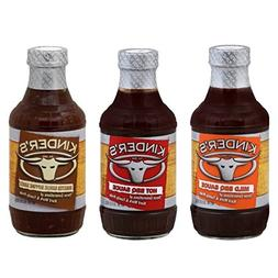 Kinder's BBQ Sauce 20 oz. Variety Pack of 3