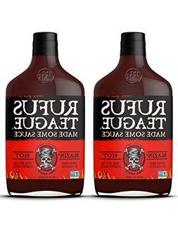 Rufus Teague World Famous Blazin' Hot BBQ Sauce. Buy More an