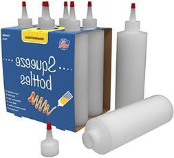 Bonus 7-pack Plastic Squeeze Condiment Bottles 16-Ounce With