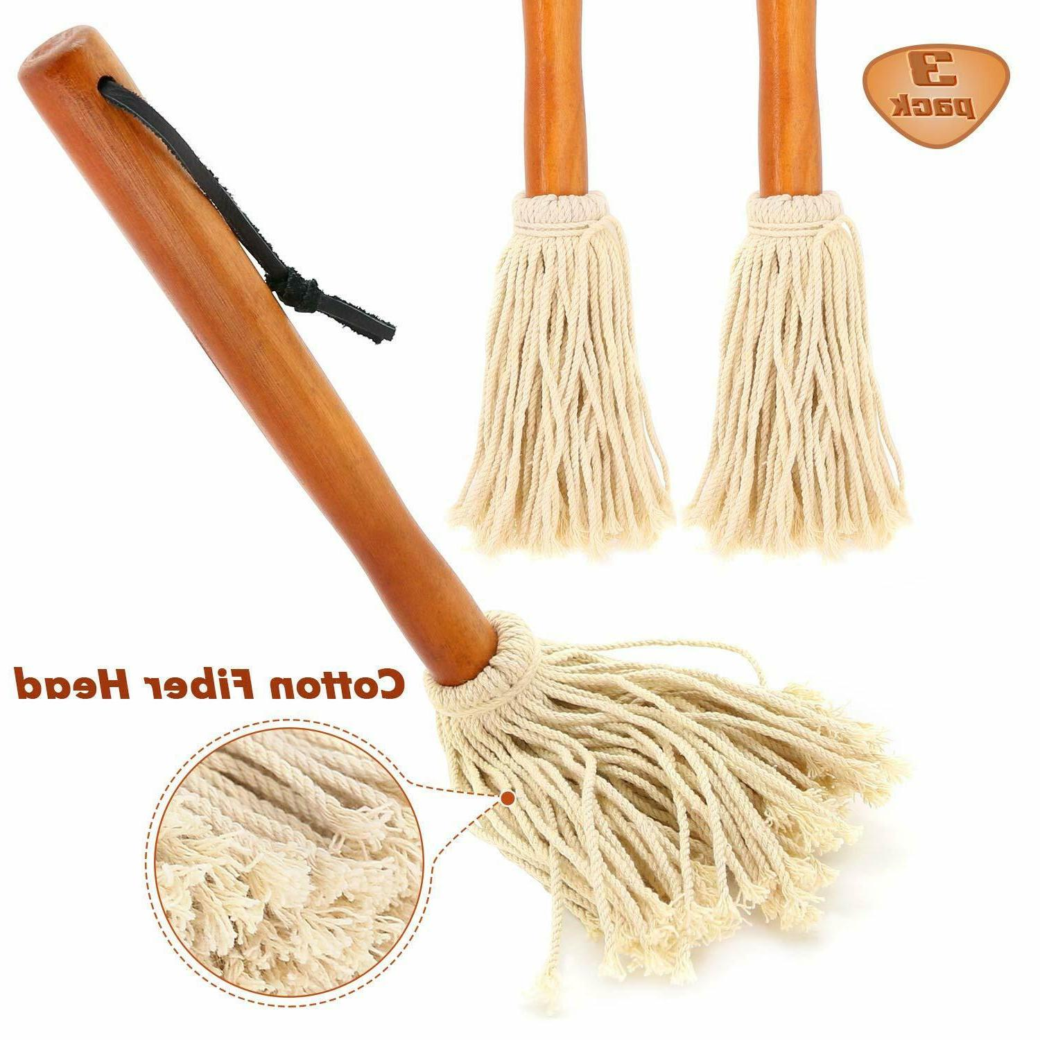 3 Basting Mops for Grilling Cooking or