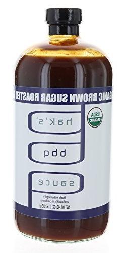 Hak's Organic Brown Sugar Roasted Garlic BBQ Sauce 40 oz