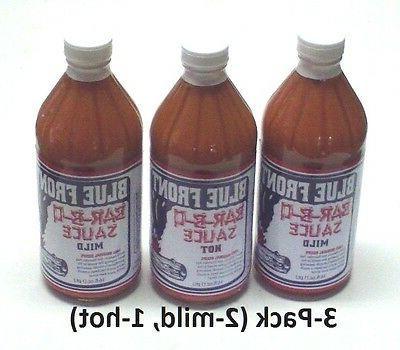 Blue Front BBQ Barbeque Sauce   3-Pack of 16oz. Bottles bbq